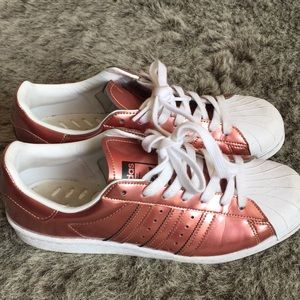 Rose gold adidas size 9